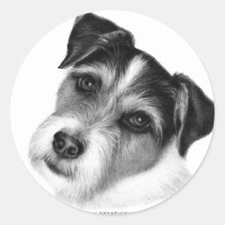 Jack (Parson) Russell Terrier Classic Round Sticker