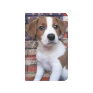 Jack patriótico Russel Terrier Cuaderno Grapado