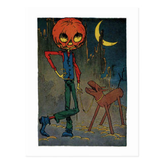 Jack Pumpkinhead With A Sawhorse Postcard