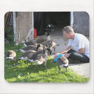 Jack que alimenta a gansos Mousepad Tapete De Ratón