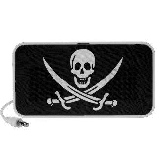 Jack Rackham Bandera alegre de Rogelio Pirata Laptop Altavoces