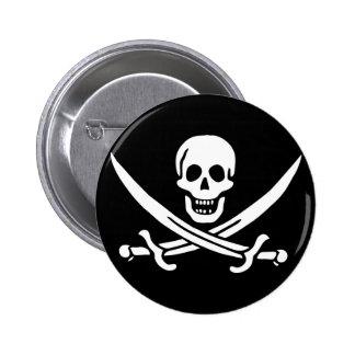 Jack Rackham; Bandera alegre de Rogelio; Pirata Pin Redondo De 2 Pulgadas