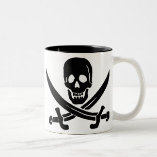 Jack Rackham-Black Two-Tone Coffee Mug