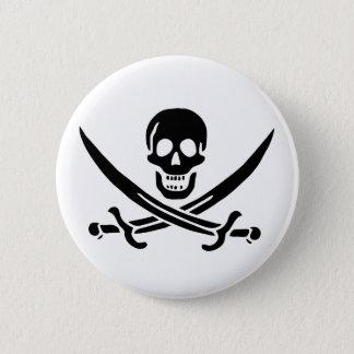 Jack Rackham black skull button