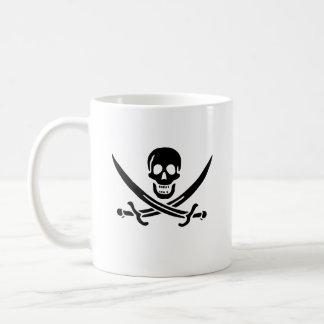 Jack Rackham black skull mug