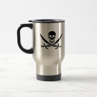 Jack Rackham black skull travel mug