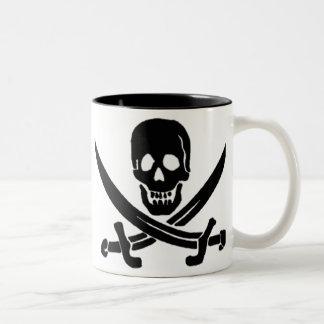 Jack Rackham-Black Two-Tone Coffee Mug