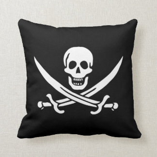 Jack Rackham Calico Jack Throw Pillow