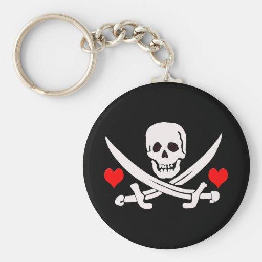 Jack-Rackham-Hearts Key Chains