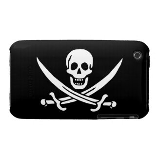Jack Rackham; Jolly Roger Flag; Pirate iPhone 3 Case-Mate Case