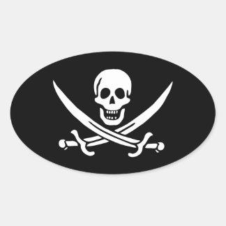 Jack Rackham; Jolly Roger Flag; Pirate Sticker