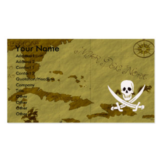 Jack Rackham Map #12 Double-Sided Standard Business Cards (Pack Of 100)