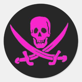 Jack-Rackham-Pink Classic Round Sticker