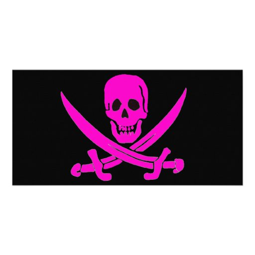 Jack-Rackham-Pink Photo Greeting Card