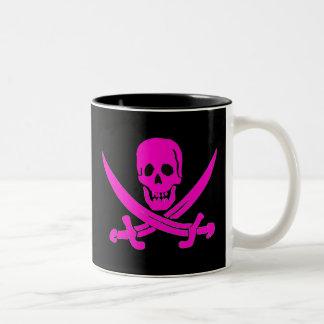 Jack-Rackham-Pink Two-Tone Coffee Mug