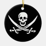Jack Rackham Pirate Flag Christmas Tree Ornaments