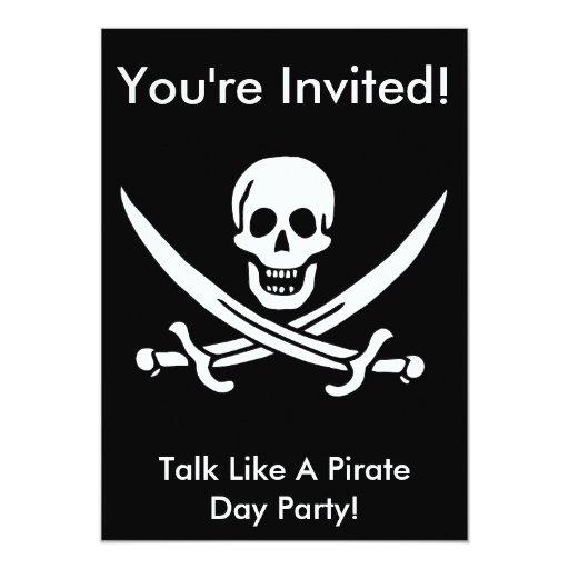 Jack Rackham Pirate Invite