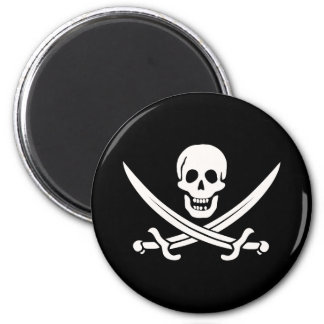 Jack Rackham Pirate 2 Inch Round Magnet