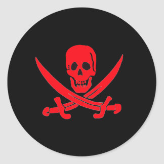 Jack Rackham- Red Classic Round Sticker