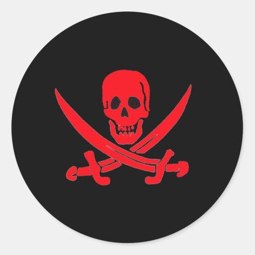 Jack Rackham- Red Classic Round Sticker