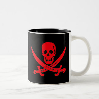 Jack Rackham- Red Two-Tone Coffee Mug
