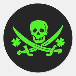 Jack Rackham-Shamrock Round Sticker