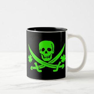 Jack Rackham-Shamrock Two-Tone Coffee Mug