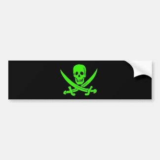 Jack Rackham-Verde Pegatina De Parachoque