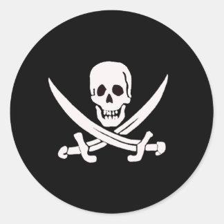 Jack Rackham-White Classic Round Sticker