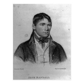 Jack Randall, engraved by Hopwood Postcard