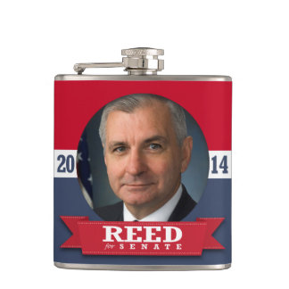 JACK REED CAMPAIGN HIP FLASK