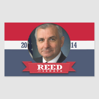 JACK REED CAMPAIGN RECTANGLE STICKERS