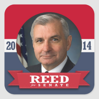 JACK REED CAMPAIGN SQUARE STICKERS