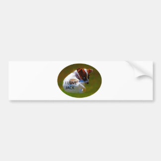 Jack Rusell Puppy Bumper Sticker
