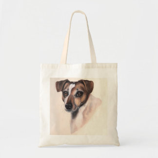 Jack Rusell Terrier Painted in Watercolour Tote Bag