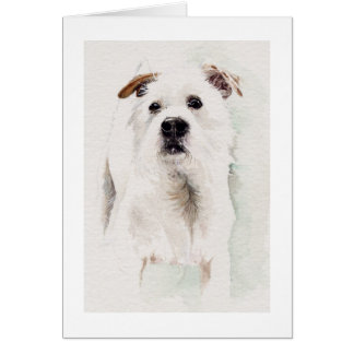 Jack Rusell Terrier Painted in Watercolour Cards