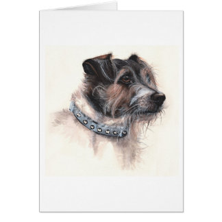 Jack Rusell Terrier Painted in Watercolour Greeting Card