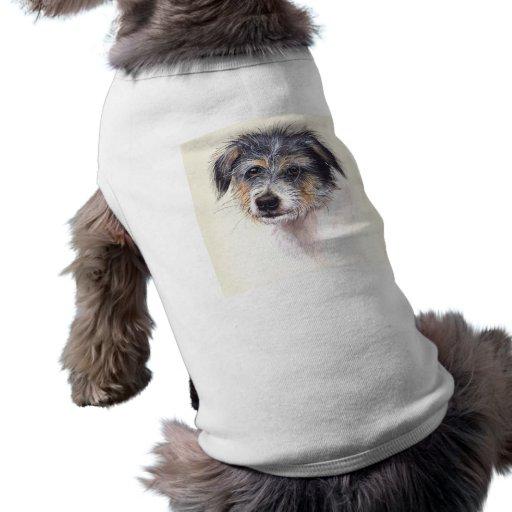 Jack Rusell Terrier pintado en Watercolour Camisetas Mascota
