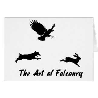 Jack Russel and Falconry Card