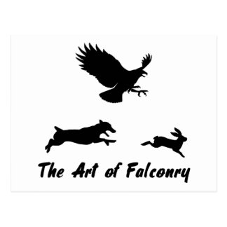 Jack Russel and Falconry Postcard