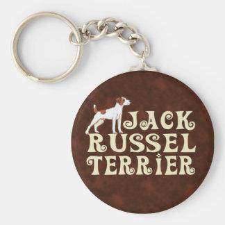 Jack Russel Basic Round Button Keychain