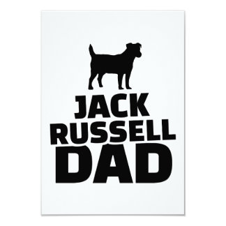 Jack Russel Dad 3.5x5 Paper Invitation Card