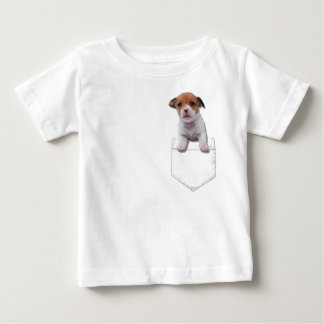 Jack Russel puppy In Your Pocket Baby T-Shirt