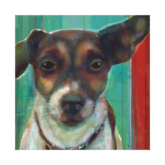 Jack Russel Terrier Canvas Wrapped Art