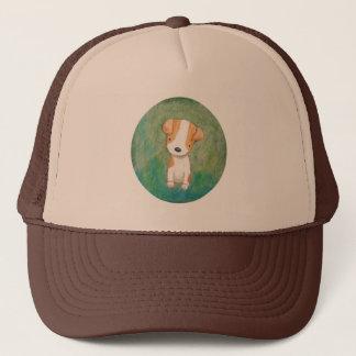 Jack Russel Terrier Cute Puppy Dog Rescue Dog Trucker Hat