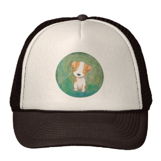 Jack Russel Terrier Cute Puppy Dog Rescue Dog Trucker Hat