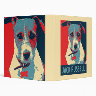 Jack Russel Terrier Political Hope Parody Binder