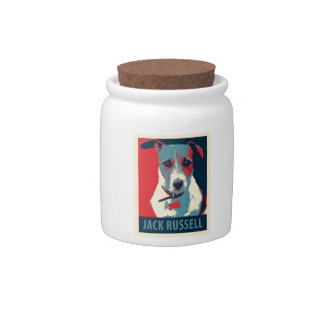 Jack Russel Terrier Political Hope Parody Candy Dish