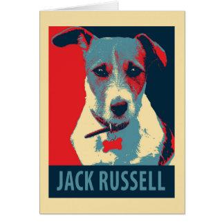 Jack Russel Terrier Political Hope Parody Card