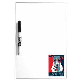 Jack Russel Terrier Political Hope Parody Dry-Erase Board